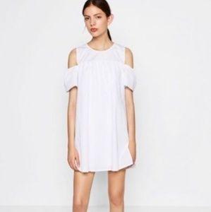 Zara Poplin Romper Jumper Dress with Pockets Small